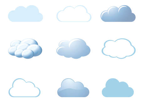 Weather icons - clouds Stock Vector - 9846093