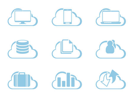 Vector Icons for Cloud Computing Vector