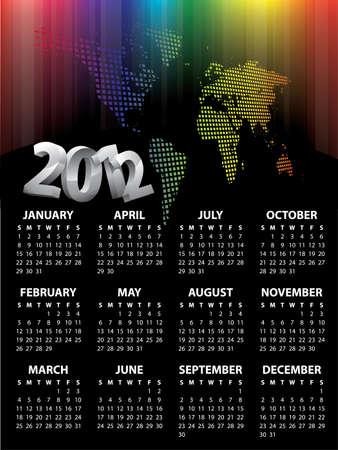 Calendar for 2012 vector Vector