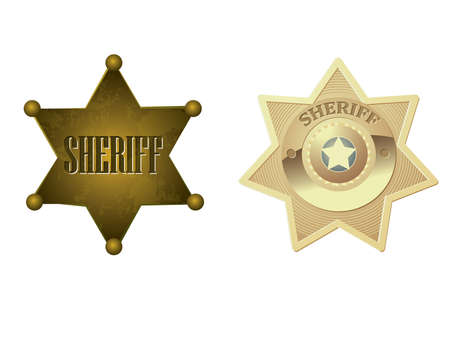 Golden sheriff badge Stock Vector - 10040300