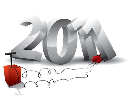 2011 bomb Stock Vector - 10160829