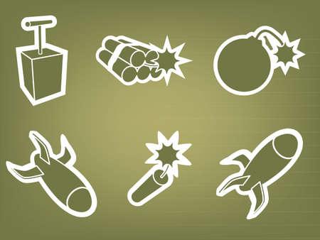 dinamita: Bomba y dinamita Vectores