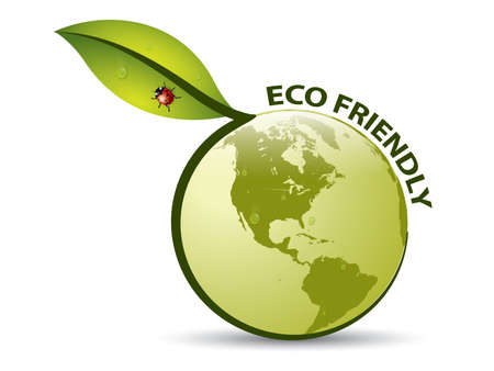 green eco: Vector Green ECO FRIENDLY Label