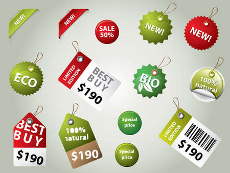 moneyback: collection of sale labels and badges