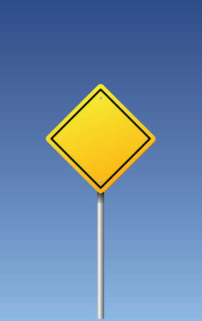 Road sign - blank Vector
