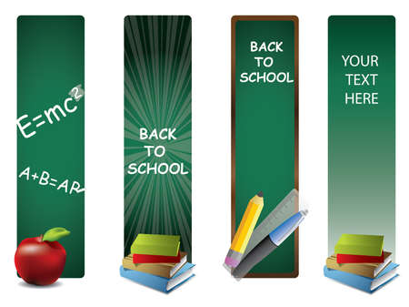 back icon: Back to school vertical banners