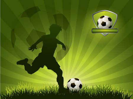Football player running on field