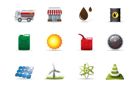 Energy icons Stock Vector - 10461587