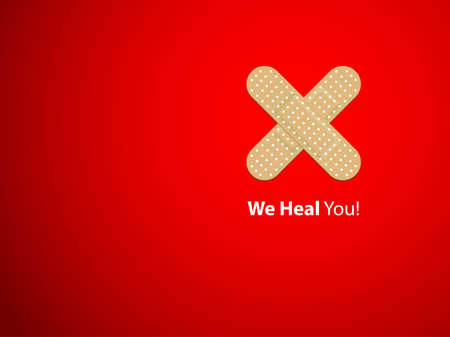 pharmacy symbol: We heal you - background
