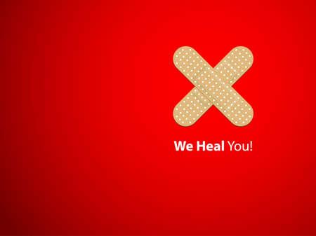 hilfsmittel: Wir heilen - Hintergrund Illustration