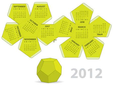 Dodecahedron calendar Stock Vector - 10627818