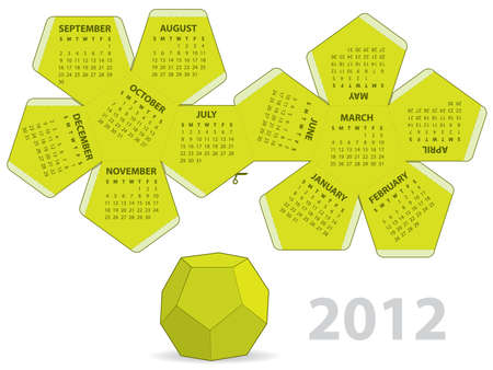 the polyhedron: Dodecahedron calendar