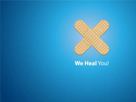 wound care: We heal you - blue background