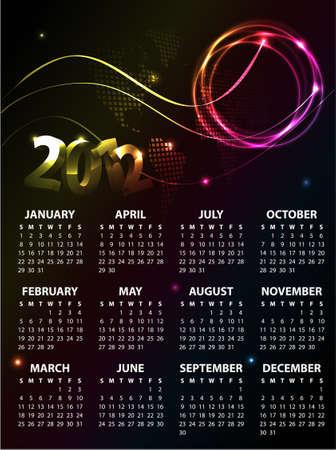 Calendar Design 2012 Stock Vector - 10748164