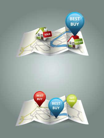 podatek: Prawdziwe mapy nieruchomości Ilustracja