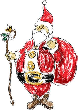 degraded: Christmas Santa Claus