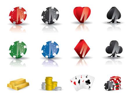 jetons poker: Jeux d'argent - jeu d'ic�nes de poker