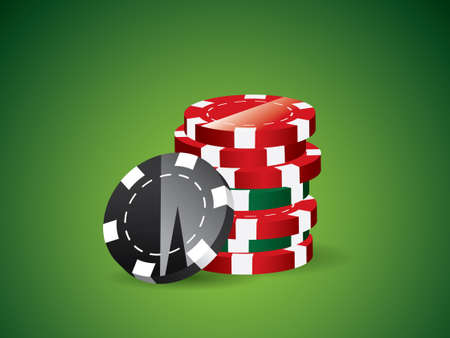Green poker background Vector