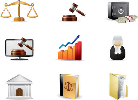 tribunale: Legge icon set