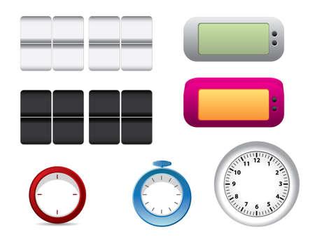 Office clock faces Vector