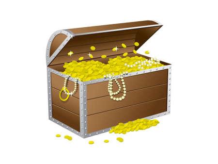 cofre del tesoro: Cofre del tesoro Vectores