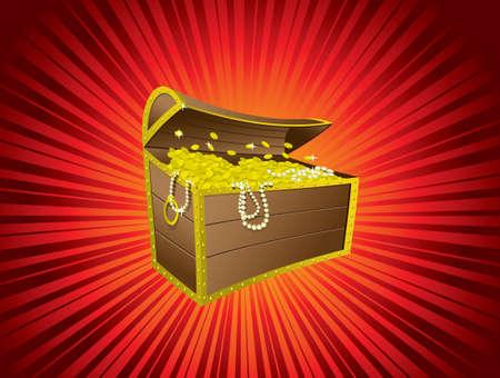 Treasure chest 矢量图像