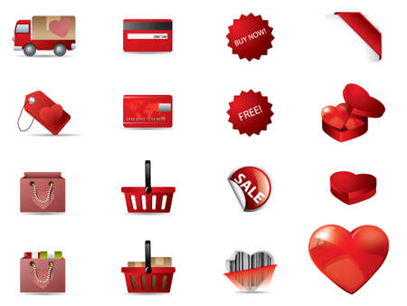 Valentine's day icons Stock Vector - 12396942