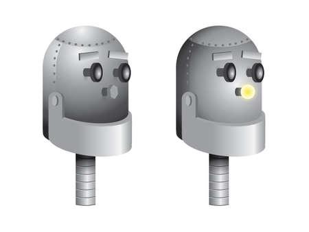 robot head: Robot head vector
