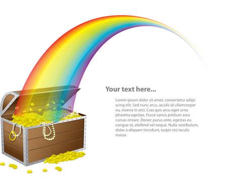 arcoiris: El pecho de San Patricio del tesoro Vectores