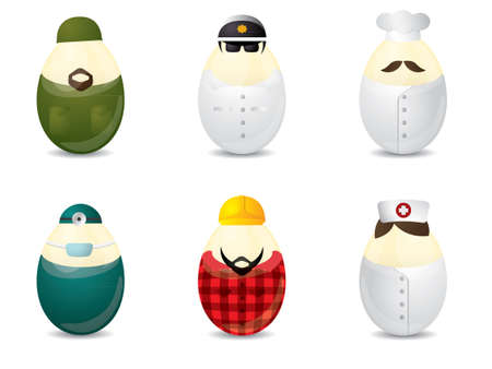 Easter eggs with uniform Vector