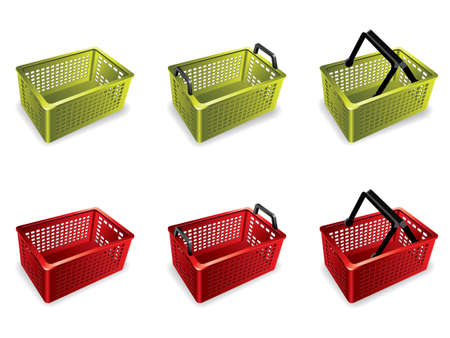 empty basket: 3D Plastic shopping basket