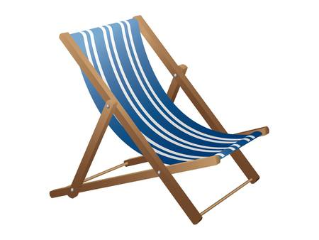 recliner: Beach chair