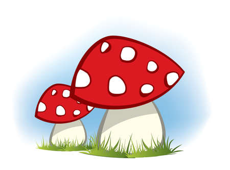 Red Mushrooms Vector