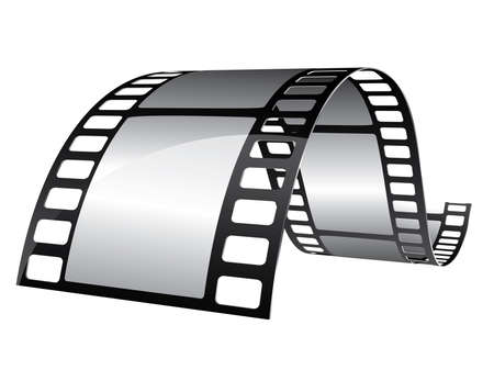 film frame: Blank film strip Illustration