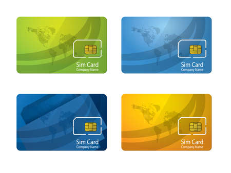 Personalized sim card Vector