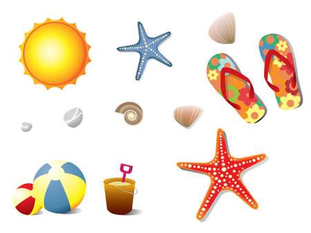star fish: Summer holidays elements Illustration