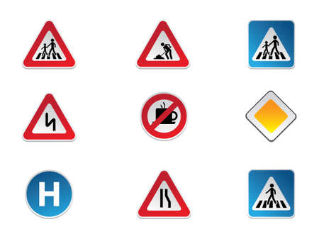 Road Signs Stock Vector - 13719290