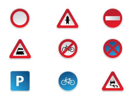 señal de transito: Las señales de tráfico Vectores