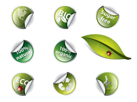 Bio and eco stickers Vector