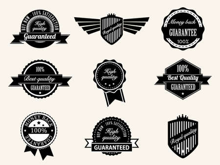 Retro vintage Premium Quality and Guarantee Labels Vector