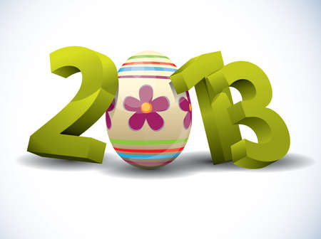 2013 Easter 3d Text Vector