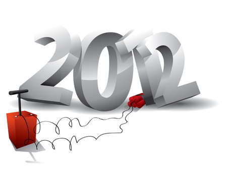 2012 bomb - end of the world  Stock Vector - 14398137
