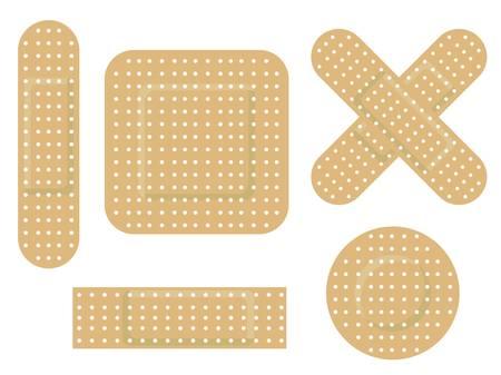 Adhesive bandage 矢量图像