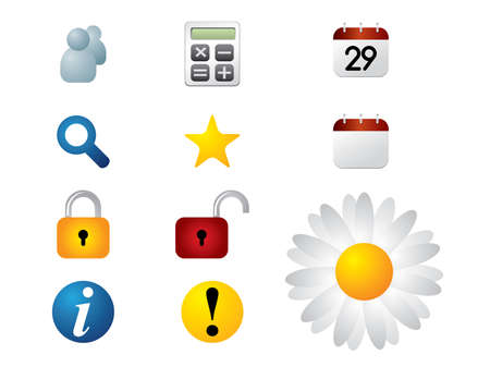 Browser icons set Stock Vector - 14398135