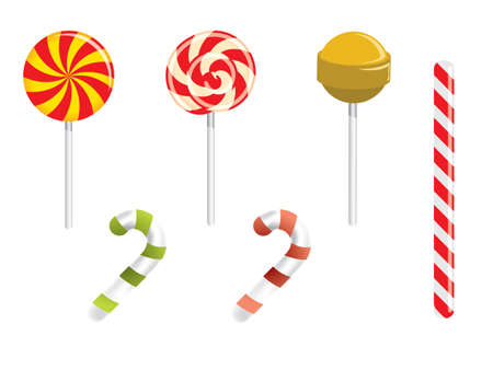 Lollipop and different candies Stock Vector - 15110988