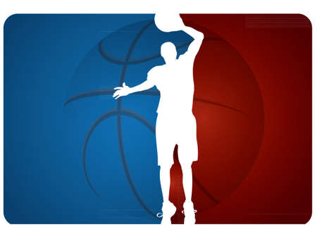 dunk: Basketball background - vector illustration