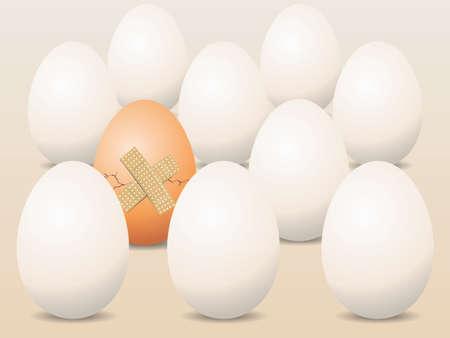 Broken Egg Concept Vector  Stock Vector - 15110980