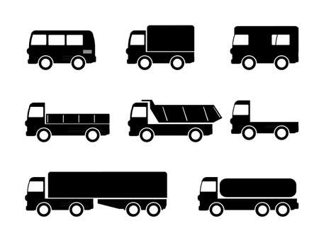 Transport truck icons Vector