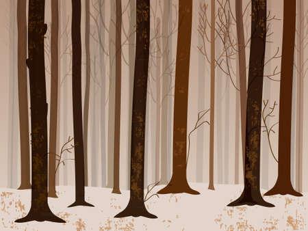 dark forest: Autumn forrest Illustration