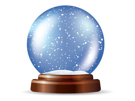 golden globe: Snowglobe Illustration